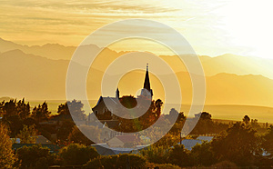 Church At Dusk Stock Images - Image: 25170484