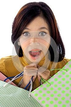 Shopping Woman Shock Royalty Free Stock Photo - Image: 25174465