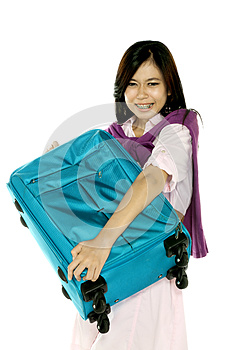 Stress Travel Lady Stock Images - Image: 25174554