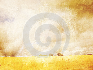 Grungy Background With Summer Landscape Stock Photo - Image: 25178360