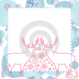 Vector Background With Deer Royalty Free Stock Photography - Image: 25179837