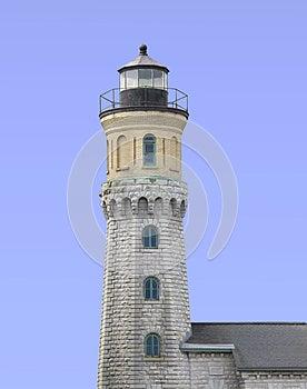 Old Warning Beacon Lighthouse Isolated Stock Photos - Image: 25186953