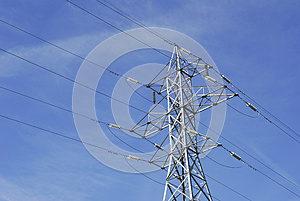 High Tension Wires Royalty Free Stock Photos - Image: 25189948