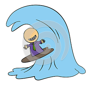 Biz Surfing Royalty Free Stock Images - Image: 25193129
