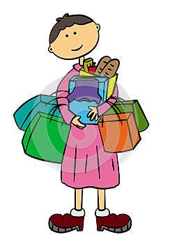 Shopaholic Stock Images - Image: 25193154