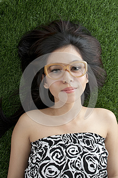 Laying On Grass Stock Photo - Image: 25193370