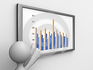 Point The Graph Stock Image - Image: 25193481