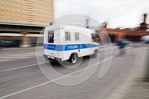 Police Van In Motion Royalty Free Stock Image - Image: 25195306