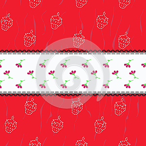 Pattern With Strawberries Stock Photo - Image: 25199010