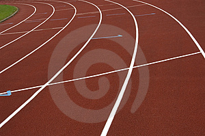 Cinder track Stock Photography