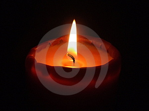 Fire Of A Candle Royalty Free Stock Image - Image: 2523536