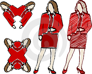 Women Illustrations Royalty Free Stock Photos - Image: 2525608