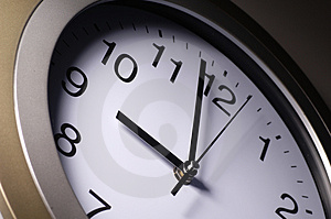 Close up of clock hands Royalty Free Stock Photos