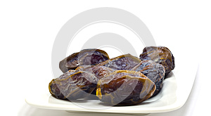 Ripe Dates On The White Royalty Free Stock Photography - Image: 25204307