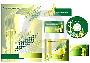 Elements Of Corporate Branding Style Royalty Free Stock Photo - Image: 25208195