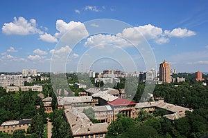 City At Summer Stock Image - Image: 25208381
