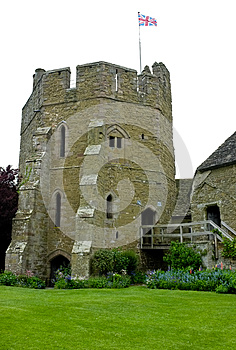 English Castle At Stokesay In Shropshire Stock Photo - Image: 25218320