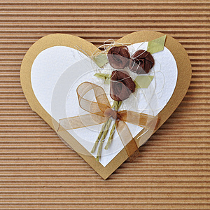 Handmade Paper Card Love Heart Shape Royalty Free Stock Photo - Image: 25224455