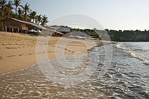 Quiet Day At A Balinese Beach Stock Image - Image: 25231831