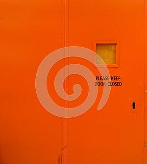 Please Keep Door Closed Stock Photo - Image: 25235280