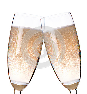 Two Glasses Of Champagne Flutes Royalty Free Stock Photo - Image: 25242345