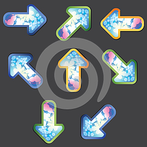 Psychedelic Arrows Royalty Free Stock Images - Image: 25244759