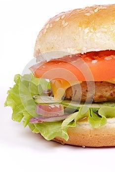 Tasty Hamburger Clipping Path Royalty Free Stock Photos - Image: 25247298