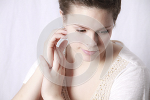 Young Woman Contemplating Stock Image - Image: 25247361