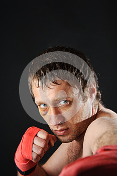 Fighter Portrait. Stock Photography - Image: 25262322