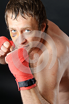 Fighter Portrait. Royalty Free Stock Photography - Image: 25262387