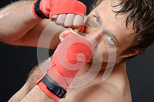 Fighter Portrait. Royalty Free Stock Photos - Image: 25262418