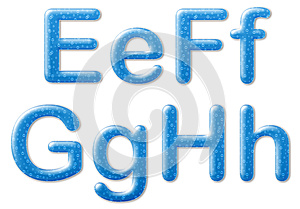Water Text Style Royalty Free Stock Photography - Image: 25262517