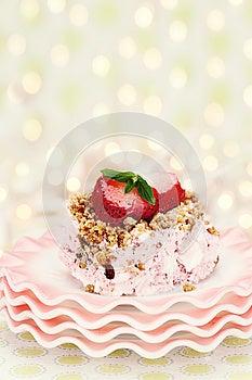 Frozen Strawberry Pie Royalty Free Stock Photo - Image: 25263315