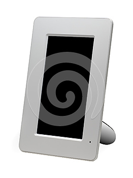 White Digital Photo Frame Stock Photo - Image: 25266440