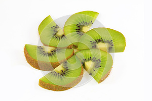 Fresh Kiwi Fruit Slices Royalty Free Stock Photography - Image: 25268927