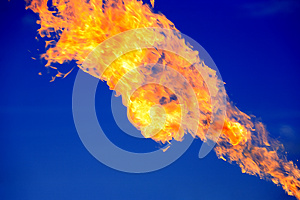 Fire On Blue Stock Photography - Image: 25270502