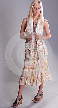 Teen In Fashionable Outfit Royalty Free Stock Image - Image: 25280456