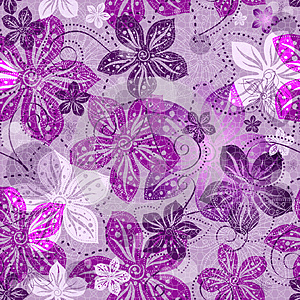 Seamless Floral Gray Pattern Royalty Free Stock Image - Image: 25282886