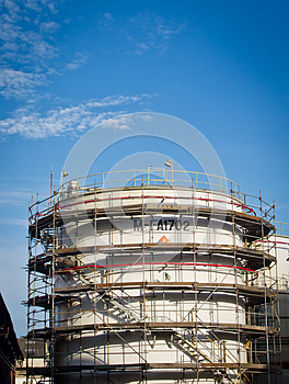 Fuel Tank Among Maintenance Royalty Free Stock Photos - Image: 25283198