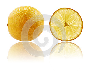 Fresh Fully Ripe Lime In Vibrant Yellow Color Royalty Free Stock Photography - Image: 25288567