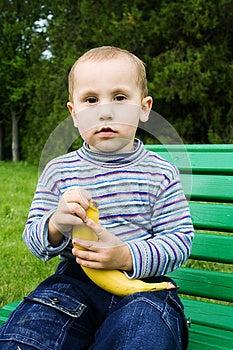 Boy With A Banana Stock Photos - Image: 25291013
