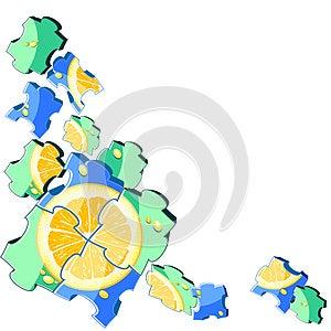 Jigsaw Puzzle Orange Royalty Free Stock Images - Image: 25296489