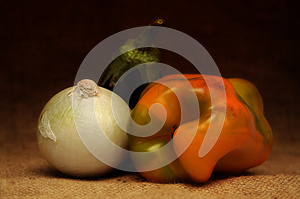 Onion, Pepper, Eggplant Stock Photography - Image: 25297352