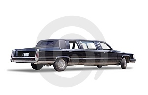 Big limousine Royalty Free Stock Image
