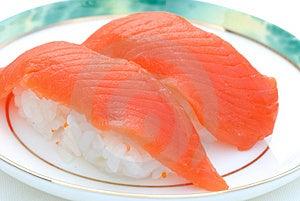 Sushi freschi del salmone rosso Immagini Stock