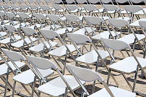 Array Of White Chairs Royalty Free Stock Images - Image: 2531949