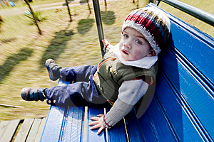 Boy In Swing Royalty Free Stock Image - Image: 2532146