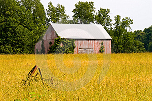 Old Tobacco Barn In Hayfield Royalty Free Stock Photos - Image: 2538378