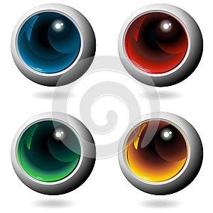 Colors Crystal Metal Spheres Stock Image - Image: 25302661