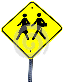 School Crossing Sign Royalty Free Stock Photography - Image: 25306117